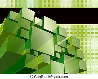 Abstract transparent green background