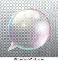 Abstract transparent soap speech bubble