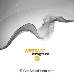 Abstract transparent wave background