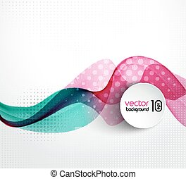 Abstract transparent wave background with halftone