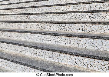 abstract, trap, en, stappen, in, de, city.