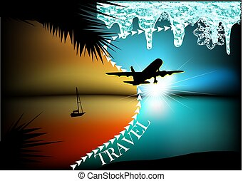 abstract travel concept