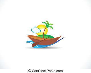 abstract travel icon vector