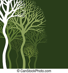 Abstract tree - Wood of trees on a green background. A...