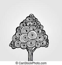 Abstract tree design in Vector Illu