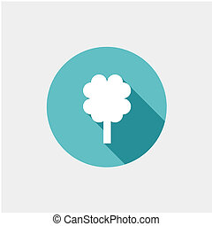 abstract tree icon illustration. Flat design style