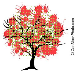 abstract tree ink