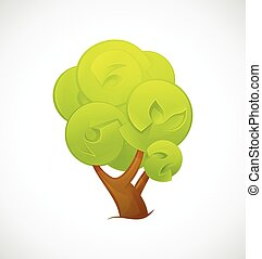 Abstract Tree  isolated on a white background. Vector illustration