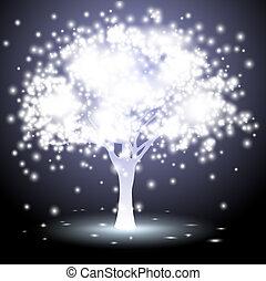 tree made of lights