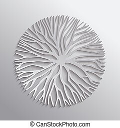 Abstract tree nature shape 3d cutout illustration