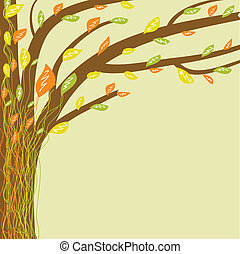Abstract tree of life. Vector illustration in soft colors