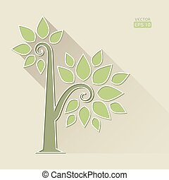Abstract Tree on brown background