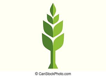 abstract tree plant green logo icon