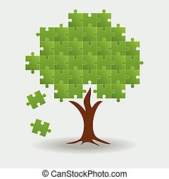 Abstract tree puzzle
