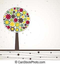Abstract tree. Vector illustration
