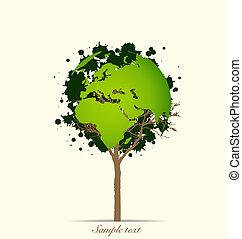 Abstract tree. Vector Illustration.