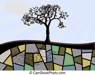abstract tree with shadow