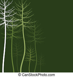Abstract tree5 - Wood of trees on a green background. A...