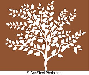 abstract trees symbol of nature  background Brown