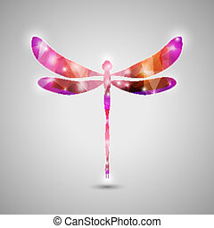 Abstract Trendy Colorful Dragonfly Icon