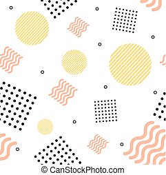 Abstract Trendy Minimal Background Memphis Style. Vector