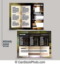 abstract tri-fold brochure template design