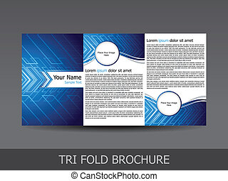 abstract tri fold brochure template vector illustration