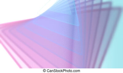 Abstract triangle animation. - Abstract offset triangle...