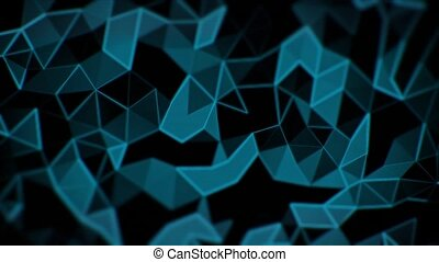 Abstract triangle animation