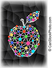 Abstract triangle apple with background
