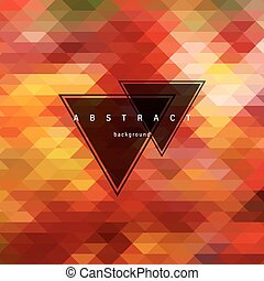 Abstract triangle  background, mosaic design elements. Vector illustration.