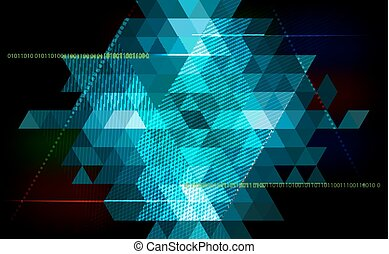 Abstract triangle  background - technology, science, programming