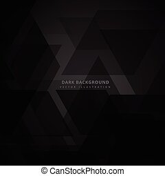 abstract triangle black background