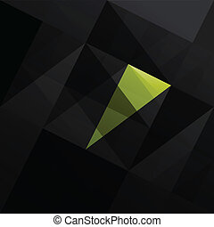 Abstract triangle black background. Vector illustration, ...