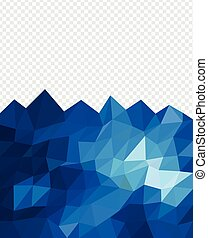 Abstract triangle blue ocean