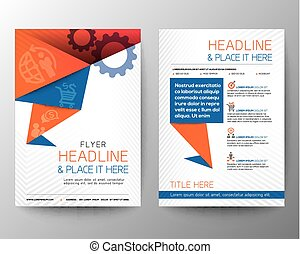 Abstract Triangle Brochure Flyer design Vector Layout in A4...