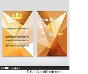 Abstract Triangle Brochure. Flyer Design Vector Template in A4 Size