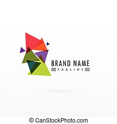 abstract triangle colorful logo design