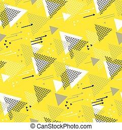 triangle direction geometric seamless pattern