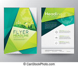 Abstract Triangle Flyer design template - Abstract Triangle...
