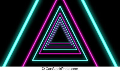 """Abstract Triangle Formed Colorful Tunnel"""