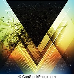 Abstract triangle future vector background