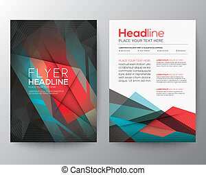 Abstract Triangle Geometric Brochure Flyer design Layout ...