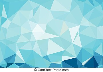 Abstract Triangle Geometrical Blue Background