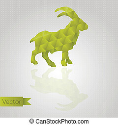Abstract triangle goat