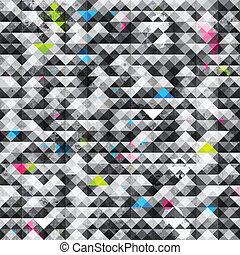abstract triangle grunge seamless pattern