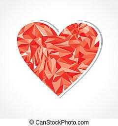 Abstract triangle heart symbol