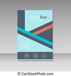 welcome to thailand - line design brochure poster template, Presentation templates
