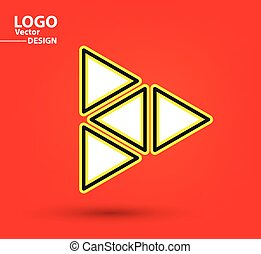 Abstract triangle logo vector design