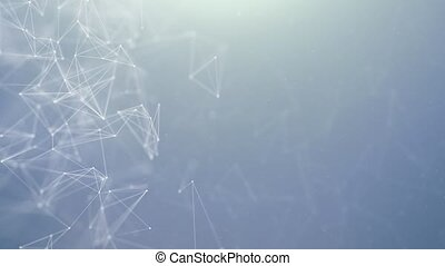 Abstract triangle pattern polygonal network Technology...